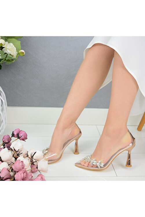 AyakkabıEfendisi Rella Rose Taşlı Şeffaf 1
