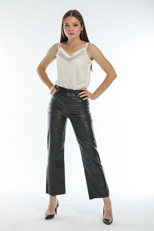 EZFER Kadın Siyah Deri Pantolon 1