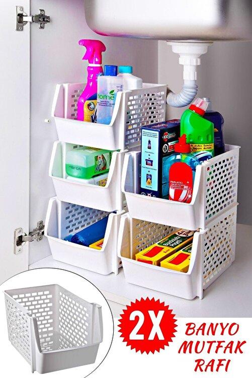 Helen's Home 2 Adet Ayrılabilir Düzenleyici Banyo Mutfak Rafı 1