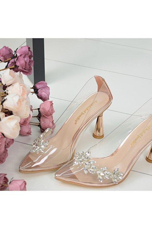 AyakkabıEfendisi Rella Rose Taşlı Şeffaf 2