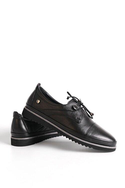 Marjin Kadın Hakiki Deri Comfort Ayakkabı Demassiyah 2
