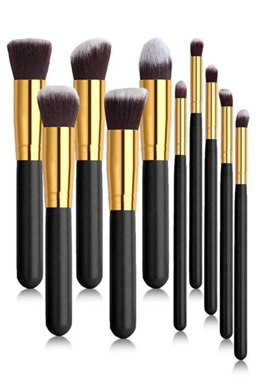 MUJGAN Siyah Saplı 10'lu Makyaj Fırça Seti 1