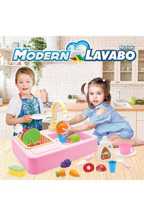 Kayyum Oyuncak Modern Mutfak Lavabo Oyuncağı Pembe Rengi 2