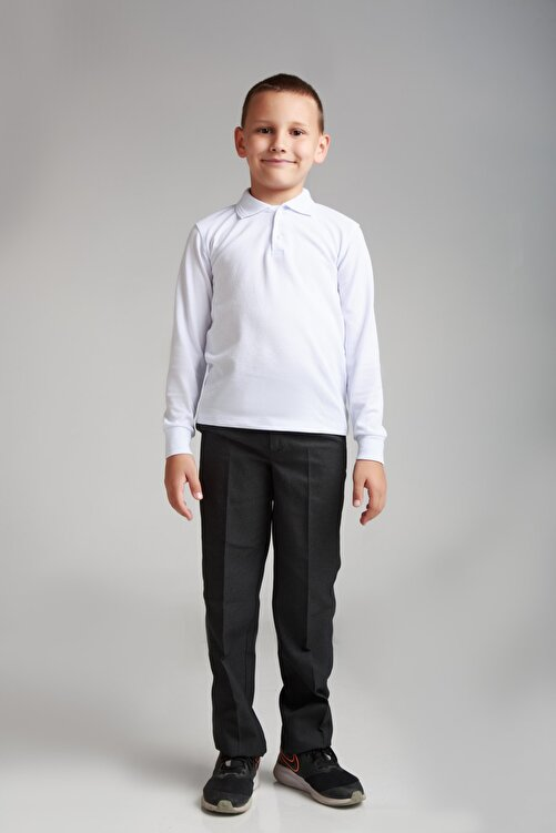 Dragora Erkek Çocuk Kumaş Okul Pantolon Siyah 2