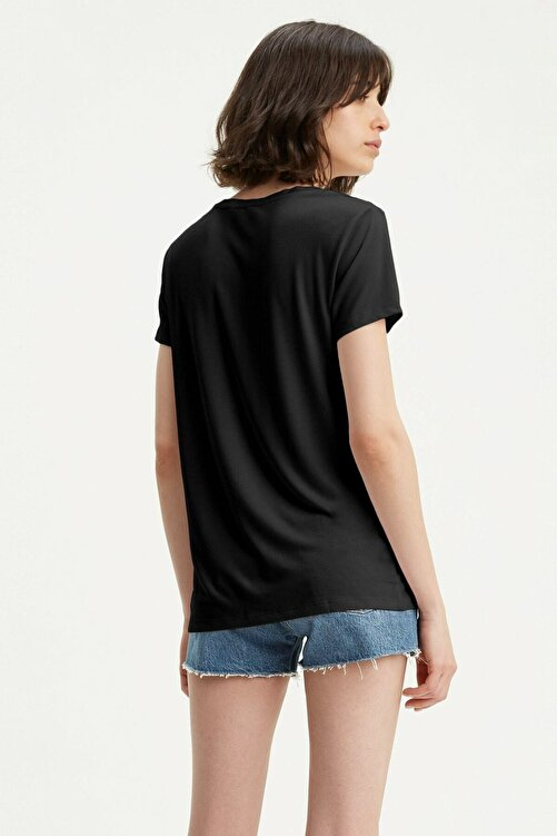 Levi's Perfect Vneck Caviar Siyah Kadın Tişört 2