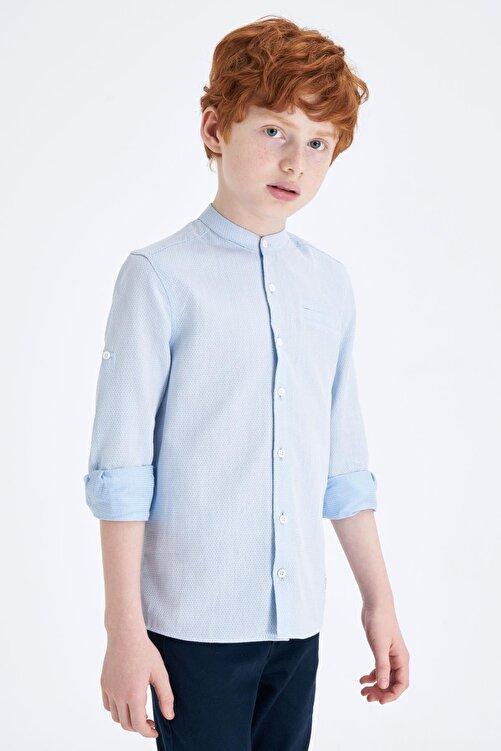 DeFacto Erkek Çocuk Polo Yaka Kolu Katlamalı Pamuklu Gömlek M8352A620SPB 1