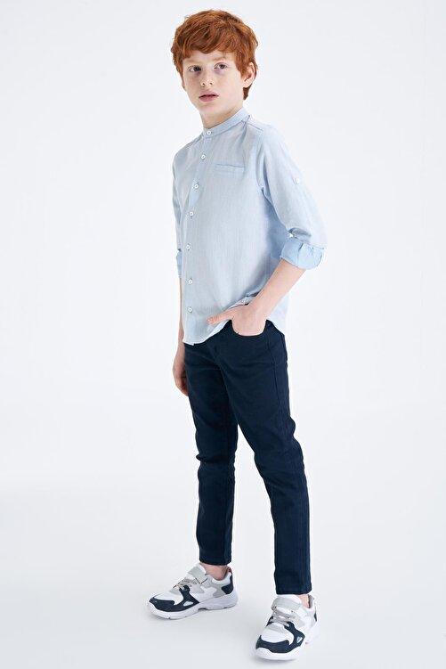 DeFacto Erkek Çocuk Polo Yaka Kolu Katlamalı Pamuklu Gömlek M8352A620SPB 2