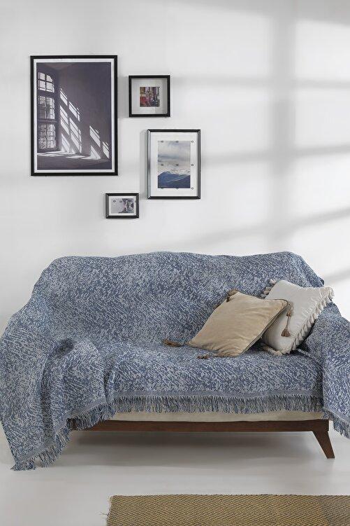 LADYNİL Lacivert Koltuk Örtüsü 180x210 cm 2