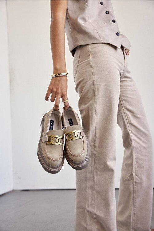 Cömert Ayakkabı Jurıca Kadın Loafer Vizon Süet 1