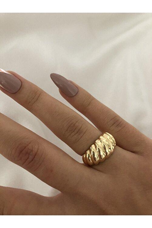 The Y Jewelry Kadın Sarı Burgu Yüzük 2