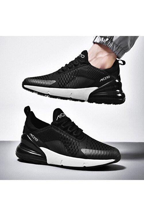 MAC MERO Unisex Günlük Yürüyüş Sneaker Siyah  Beyaz Air File Spor Ayakkabı 1