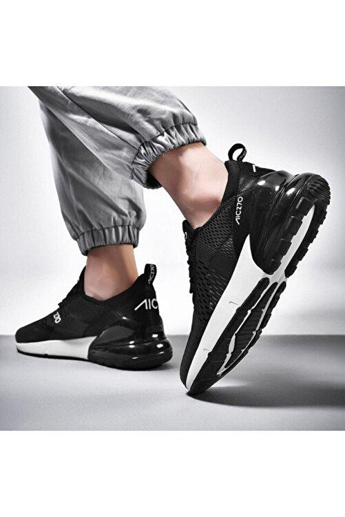 MAC MERO Unisex Günlük Yürüyüş Sneaker Siyah  Beyaz Air File Spor Ayakkabı 2
