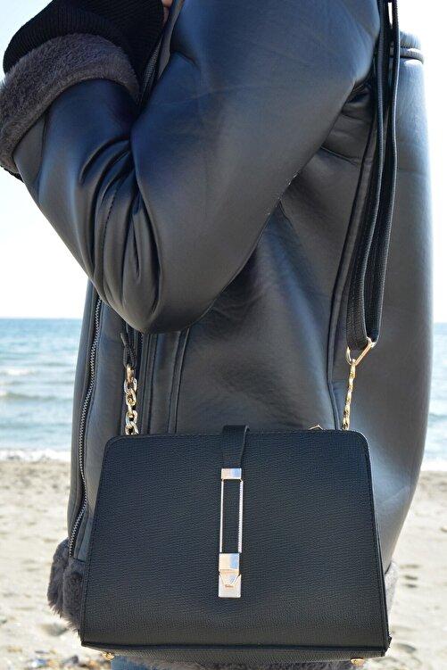 ALTEKS AKSESUAR Kadın Siyah Şık Ve Kullanışlı Çanta 2