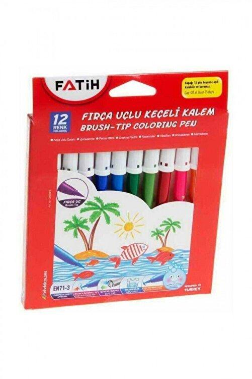 Fatih 12 Renk Fırça Uçlu Keçeli Kalem 34070 1