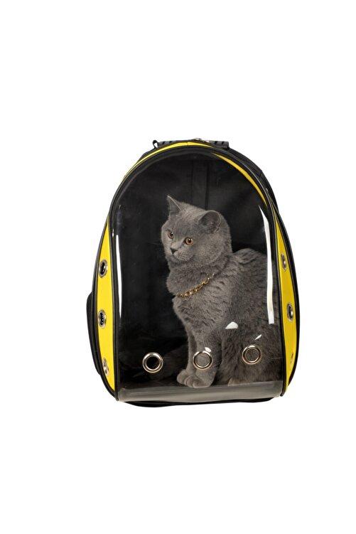 Tropheus çanta Sarı Siyah Astronot Kırılmaz Şeffaf Kedi Köpek Taşıma Çantası 42 X 22 X 33 Cm 1
