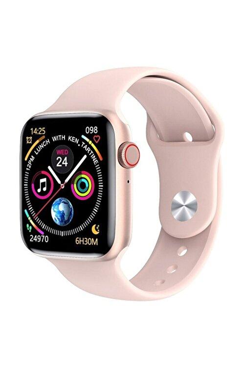 X-GEAR W26 Watch 6 Plus Yeni Nesil Pembe Türkçe Akıllı Saat Son Sürüm Yan Tuş Aktif 1