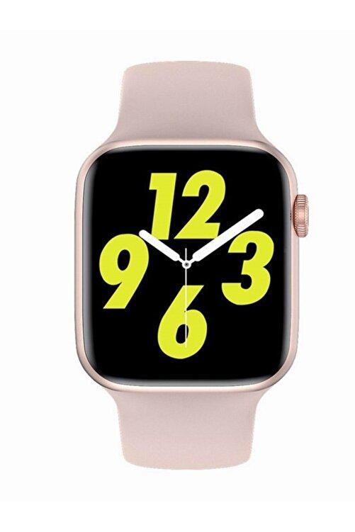 X-GEAR W26 Watch 6 Plus Yeni Nesil Pembe Türkçe Akıllı Saat Son Sürüm Yan Tuş Aktif 2