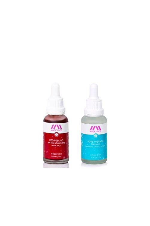 MAGIC FACE Red Peeling Eşitleyici (aha 20% + Bha 2%)+ Pore Therapy Niacinamide 8% + Zınc Pca 1% 30ml Double Set 1