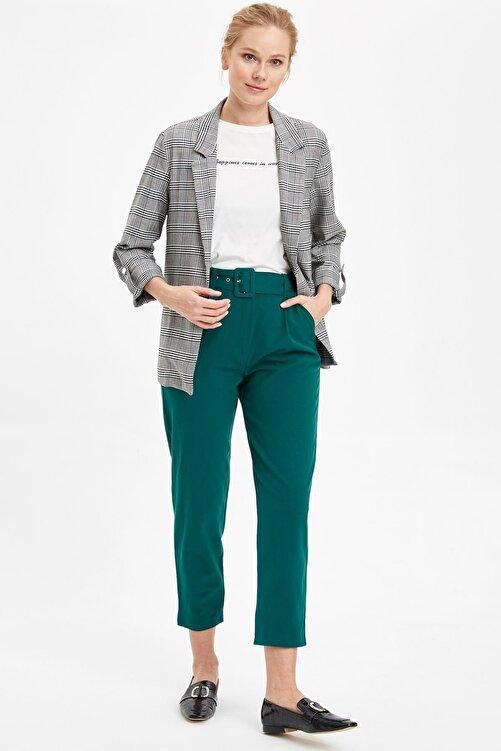 DeFacto Kadın Beyaz Katlamalı Kol Blazer Ceket N5050AZ.20SP.WT34 2