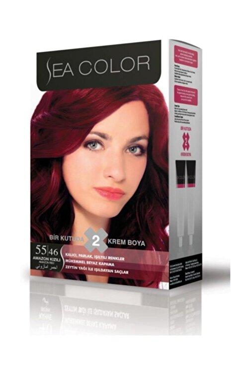 Sea Color Saç Boyası Amazon Kızılı 55/46 1