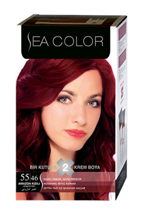 Sea Color Saç Boyası Amazon Kızılı 55/46 2
