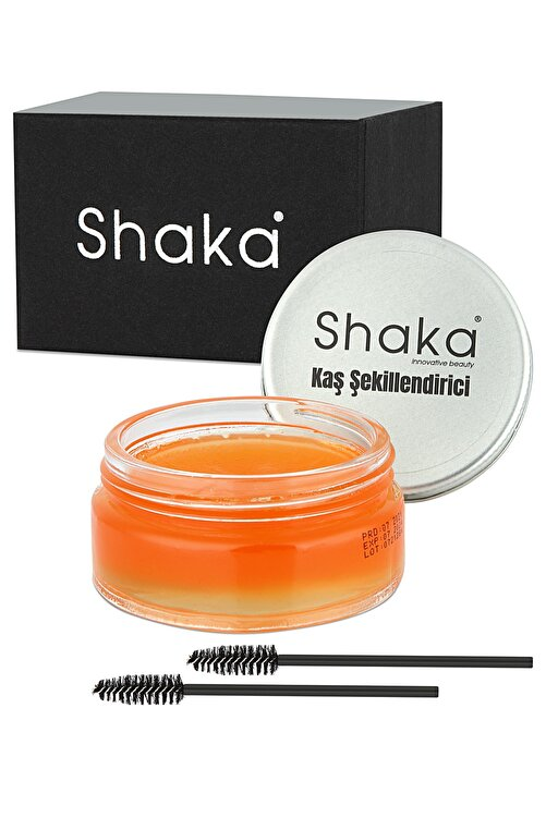 SHAKA Keratin ve E Vitamin Içerikli Besleyici Kaş Şekillendirici Sabitleyici Wax 50 gr 2 Adet Kaş Fırçası 2