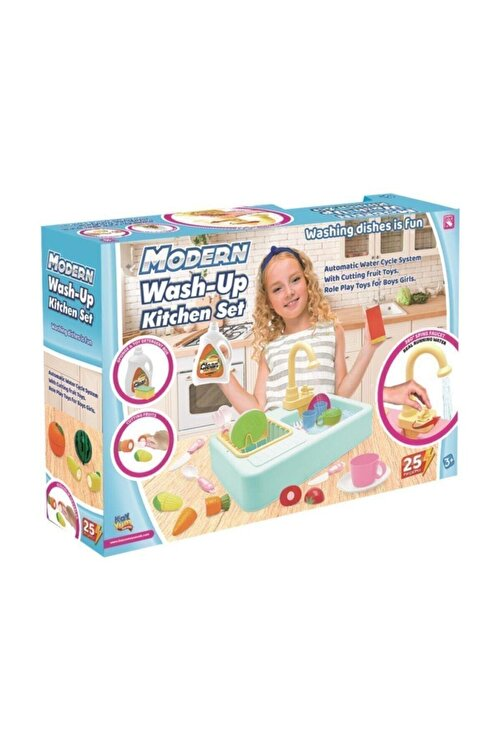 Kayyum Oyuncak Turkuaz Modern Mutfak Lavabo Oyuncağı 2
