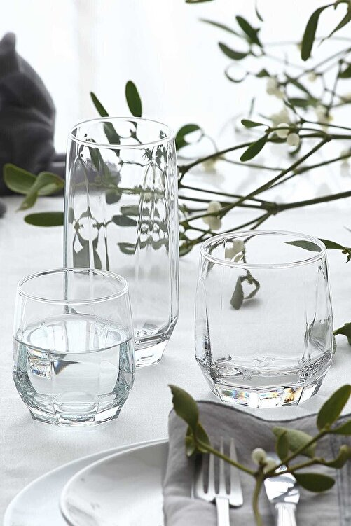 LAV Diamond 18 Parça Meşrubat Bardağı Seti Fma05058 1