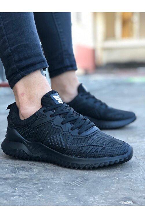 Odal Shoes Erkek Siyah Unisex Sneaker Spor Ayakkabı Takax0132 2