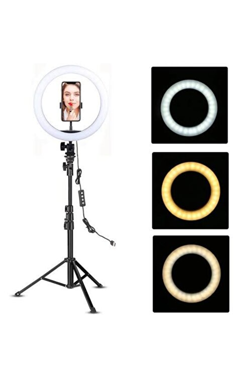 Voground Ring Fill Light Led Işıklı Tripod 10 Inç Halka Youtuber Tiktok Makyaj Işığı Ayaklı 10 Inç Tripot3838 2