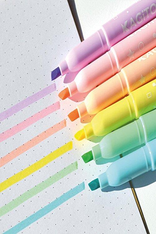 kagito Pastel Highlighter Kalem Seti 6'lı 2