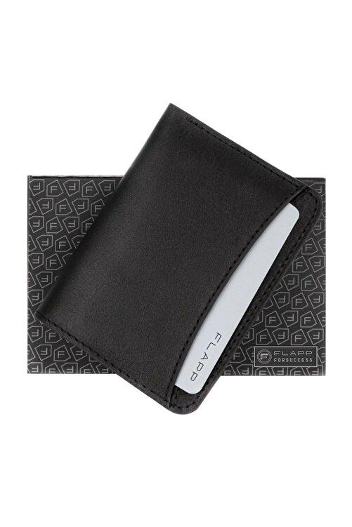 Flapp Hakiki Deri Siyah Mini Kartlık 2