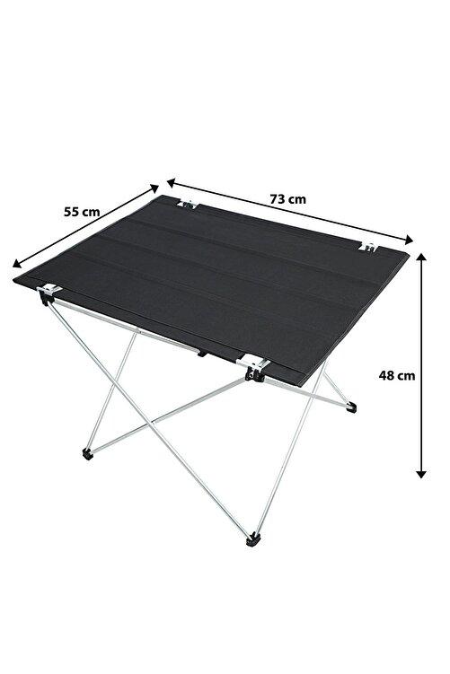 Bundera Katlanabilir Masa Piknik Çok Amaçlı Kamp Masası Taşıma Çantalı 73x55x48 Cm 2