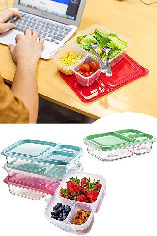 Helen's Home 3 Bölmeli Diyet Saklama Kabı Taşınabilir Beslenme Kabı 1