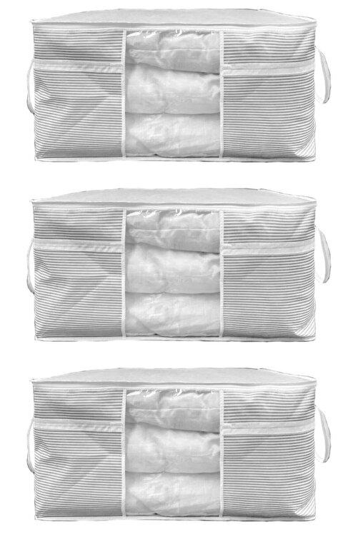 ESTİ 3 Adet - Pencereli Yastık Yorgan Hurcu 75 X 40 X 40 Cm 2