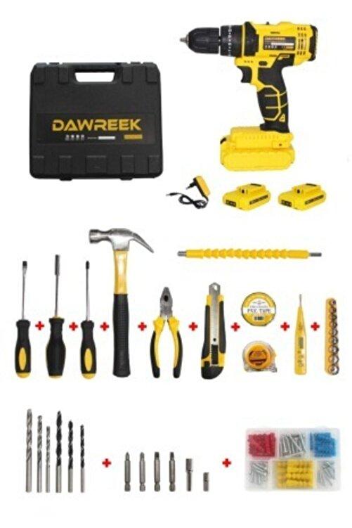 Dawreek 24 V Full Setli Çift Bataryalı Metal Şanzumanlı Darbeli Şarjlı Matkap Cordless Impact Drill 2