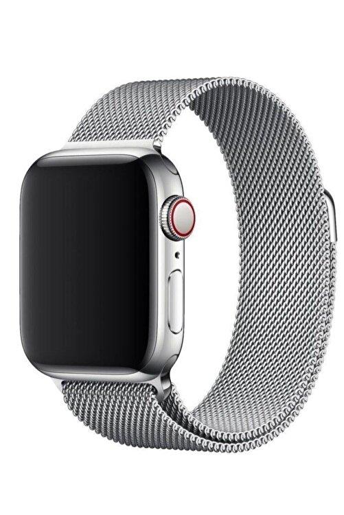 MAXCOM Apple Watch Hasır 38mm/40mm Milano Kordon Çelik Kayış Sılver/gumus 2