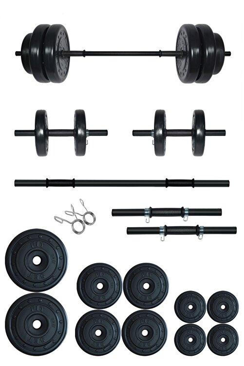 Fitset 55 Kg Kombo Halter Seti ve Dambıl Seti Ağırlık Fitness Seti 1