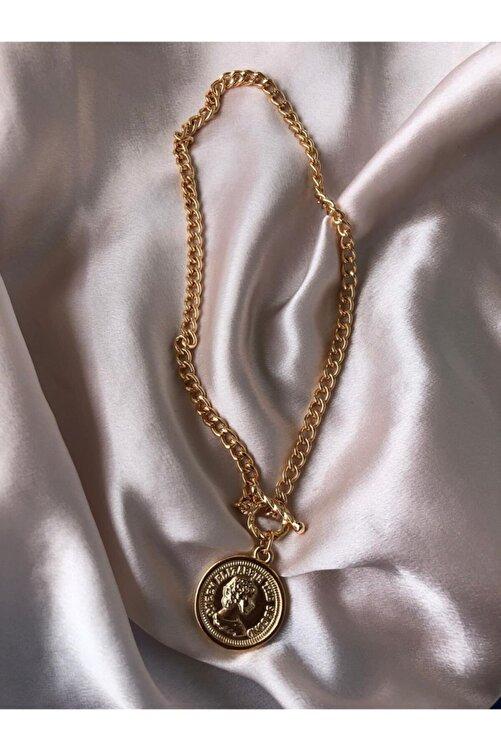 Accessorize Kadın Altın Elizabeth Kolye 1