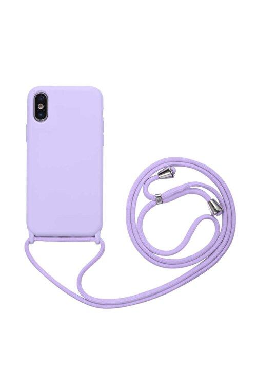 Fibaks Apple Iphone X/xs Kılıf Ipli Boyun Askılı Içi Kadife Lansman Yumuşak Silikon 1