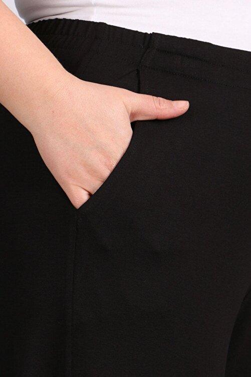 eslamood Kadın Siyah Beli Lastikli Penye Pantolon 9012 2