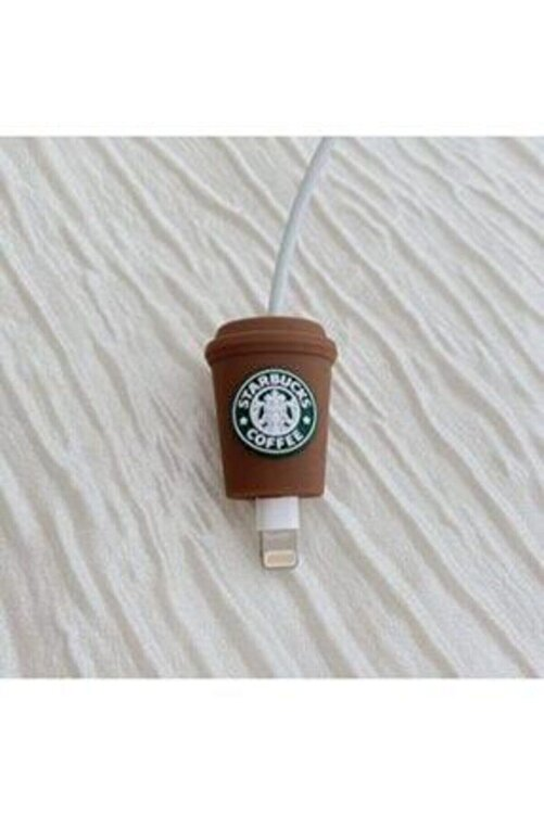 MY MÜRDÜM Sevimli Silikon Kablo Koruyucu Starbucks 2