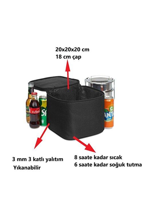 Ankaflex Yalıtımlı Yemek Taşıma Çantası Soğuk Sıcak Tutucu Sefer Tası Öğle Yemeği Yemek Kutusu 2