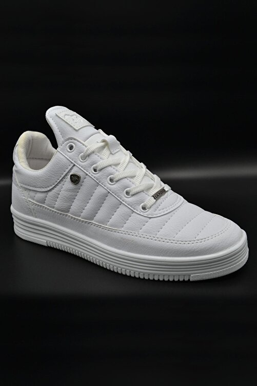 L.A Polo 07 Beyaz Dikişli Unisex Spor Ayakkabı 2