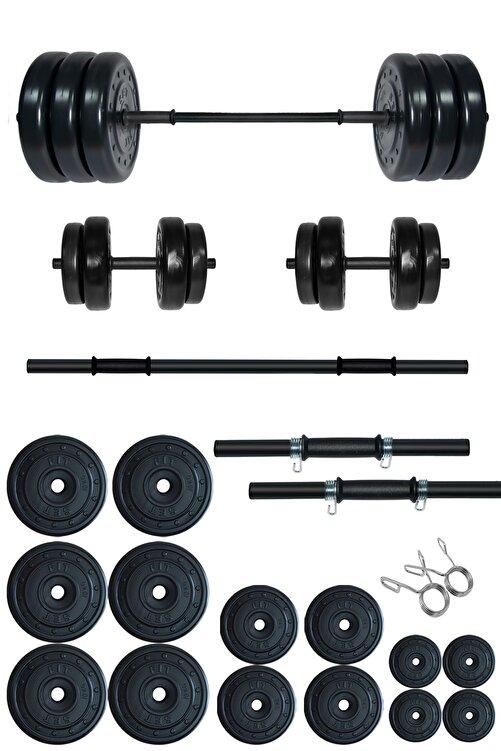 Fitset 95 kg Kombo Halter Seti Ve Dambıl Seti Ağırlık Fitness Seti 1