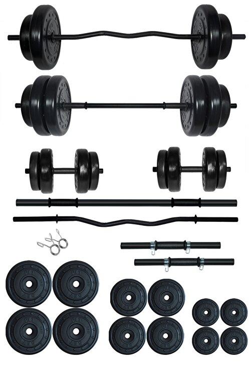 Fitset 78 Kg Z Barlı Halter Seti Ve Dambıl Seti Ağırlık Fitness Seti 1