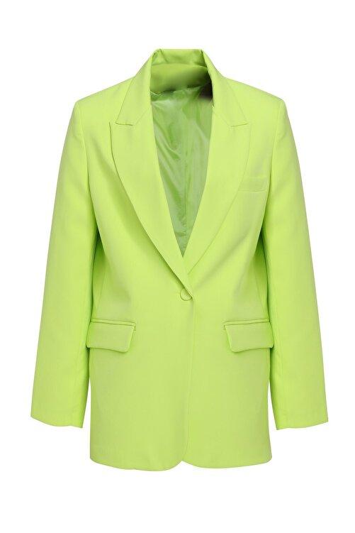 Quzu Blazer Ceket Açık Yeşil 2