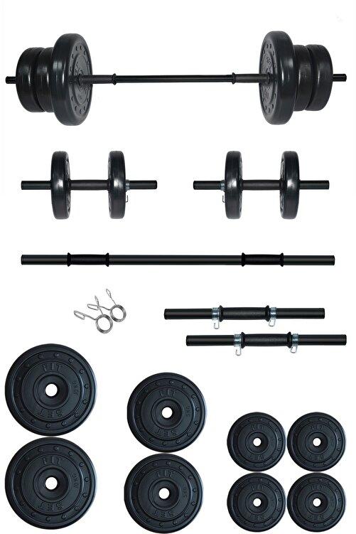 Fitset 45 Kg Kombo Halter Seti Ve Dambıl Seti Ağırlık Fitness Seti 1