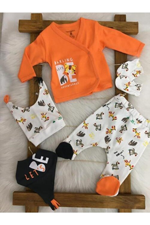 Fantastic Baby Erkek Bebek 5'li Yenidoğan Hastane Çıkış Seti 1001005 1