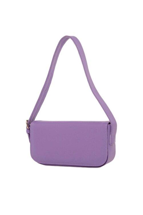 bag&more Kadın Lila Kapaklı Baget Çanta 1
